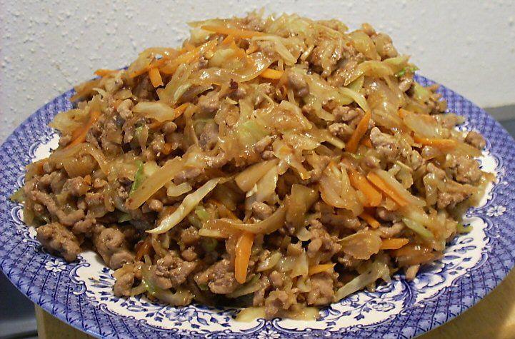 ASIAN PORK & CABBAGE SKILLET DINNER - Linda's Low Carb Menus & Recipes