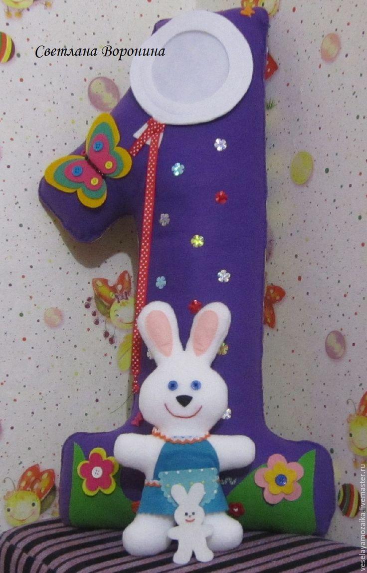 Купить Цифры из фетра на День рождения - комбинированный, цифра из фетра, декор детской