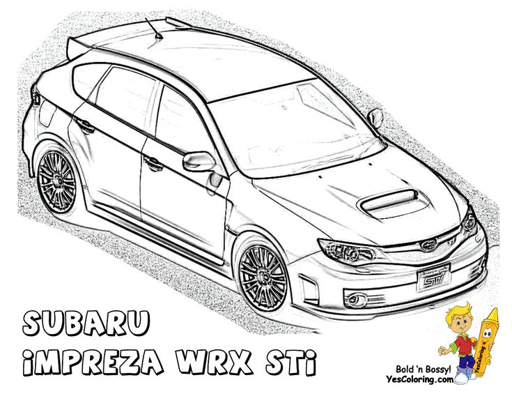 powerful car printables  subaru impreza wrx sti  wow