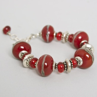 Glass beads bracelet by Martha Henry (Calgary, AB). Member of the Alberta Craft Council.