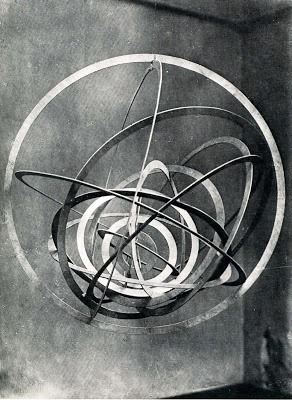 hanging sculpture. alexander rodchenko. 1920. Rodchenko was a Russian artist, sculptor, photographer and graphic designer. He was one of the founders of constructivism and Russian design; he was married to the artist Varvara Stepanova.
