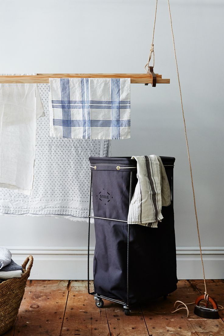 Steele Canvas has been making laundry baskets for almost 100 years—and their staying power is no wonder. This exclusive-to-Food52 grey elevated basket is both functional and beautiful—with wheels, a removeable bag for easy transport, and a handmade-to-order trademark vintage look.