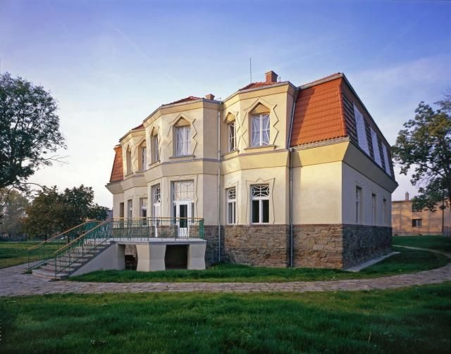 The cubist  villa in a picturesque village of Libodřice, District of Kolín, Central Bohemian Region.