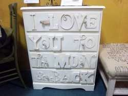 I Love You To The Moon And Back Dresser From Second Chance Furniture Iowa Furniture