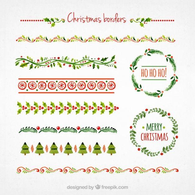 Ansammlung Weihnachts Grenzen Kostenlose Vektoren