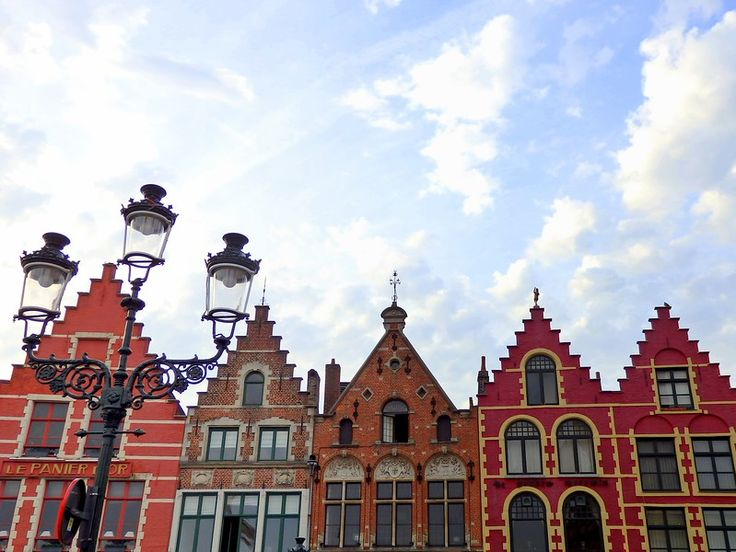 Market Square in Bruges has colourful buildings!