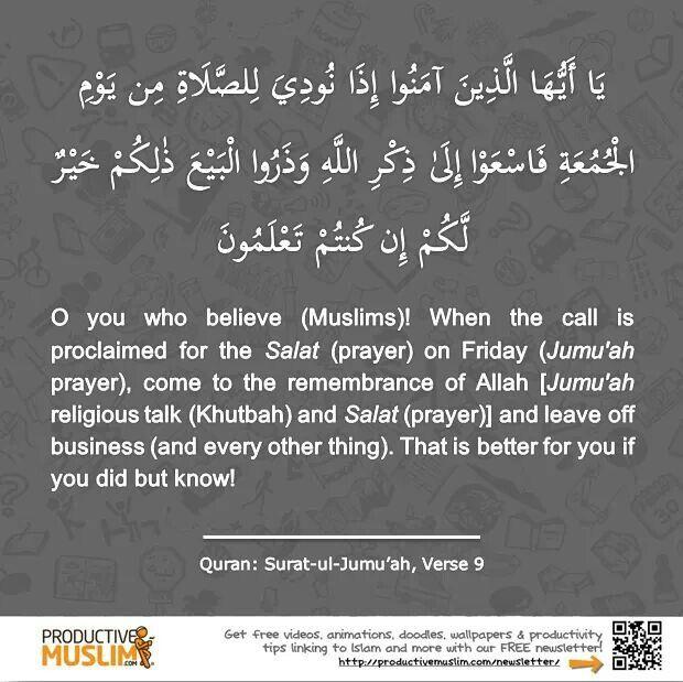 Importance of Jumaah prayers