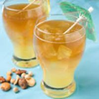 Captain's Vacation    Ingredients  ice cubes  6 oz. pineapple juice  1 1.5-oz. jigger spiced rum  1 C. lemon-lime flavored carbonated beverage  Directions  Fill a glass with ice. Pour in the pineapple juice and spiced rum. Top off with enough lemon-lime soda to fill the glass.