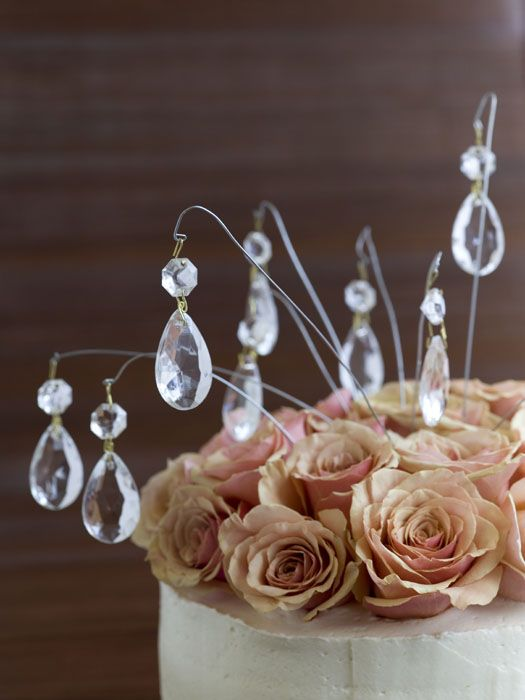 Crystal cake jewelry from The DIY Bride: 40 Fun Projects For Your Ultimate One-of-a-Kind Wedding.
