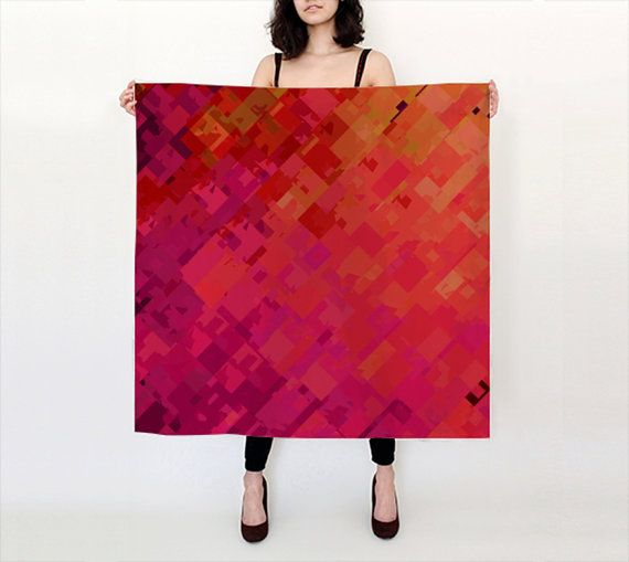 This DESIGNER SILK SCARF by Artist Shandra Smith is available in different sizes and fabrics. Its also lightweight, eco-friendly and washable. https://www.etsy.com/ca/shop/ShandraSmithArt