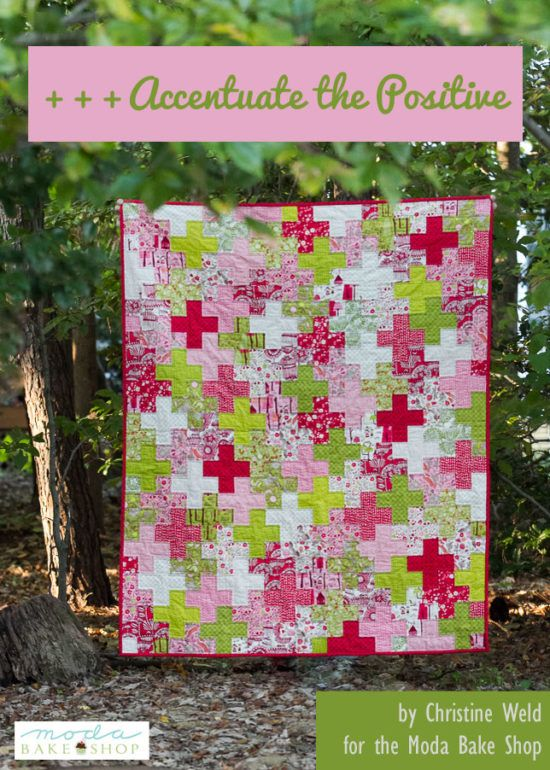 All you need for the quilt top is a single jelly roll! Plus sign quilts never get old. :)