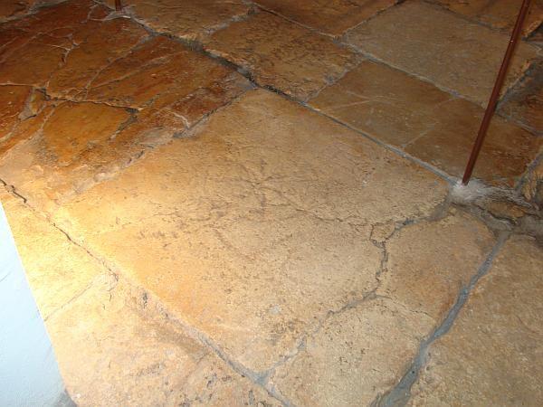 Rustic stone floor tile cabins pinterest tile love for Rustic cabin flooring