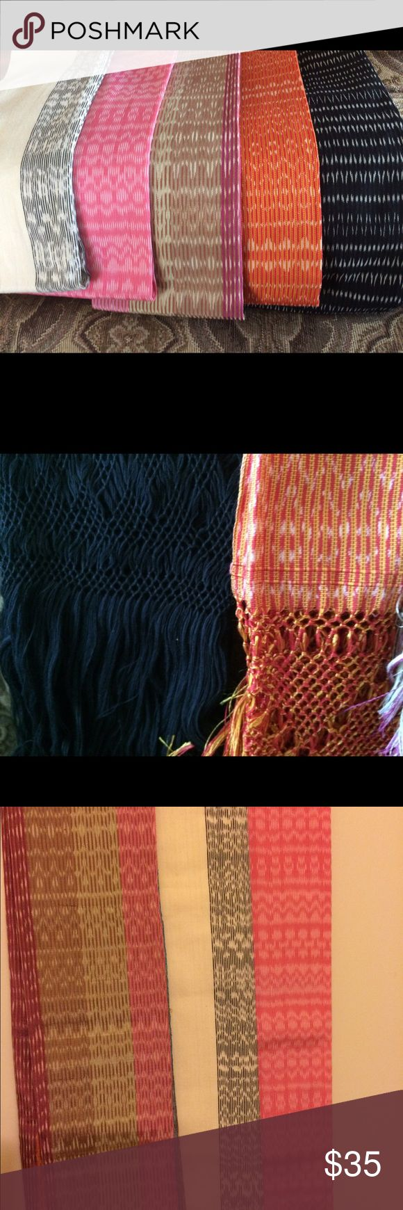 Handmade Mexican Rebozos (shawl) Various colors. See individual posts for details Accessories Scarves & Wraps