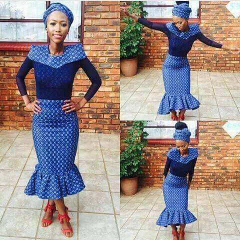 shweshwe dresses in south africa 2017 - style you 7