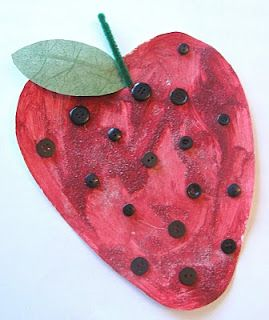 The Red Ripe Strawberry and the Big Hungry Bear ....Scented Strawberry craft