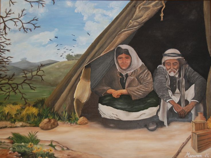 (c) Refugees: Oil on canvas by Marwan Kishek