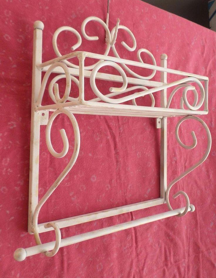 Mensola in ferro battuto cucina porta spezie / Mensola per bagno Shabby Chic