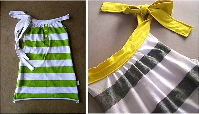 yet another cute t-shirt-turned-baby-dress tutorial.  could also make some for the big girls.