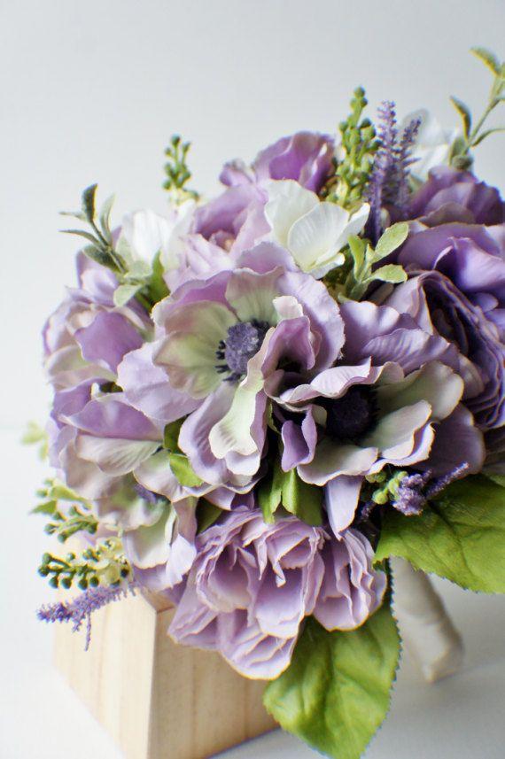 Bouquet da sposa Bouquet di viola pronto a di FashionTouchWeddings
