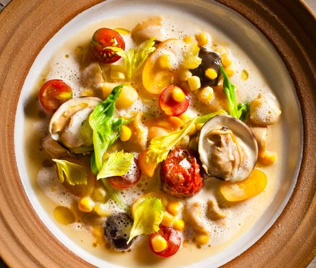 Manhattan Clam Chowder |  With the rise of the Italian and Portuguese populations in Rhode Island's fishing communities in the middle of the nineteenth century came the... more ›