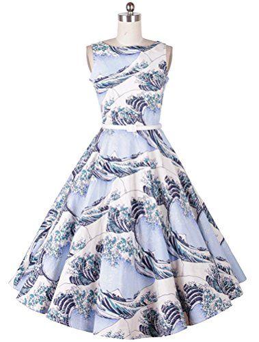 MatchLife Damen Ohne Arm Abendkleid Vintage Kleider