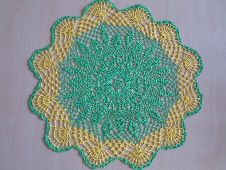 Handmade doilies (18inch) (46cm) by Ela Mazek