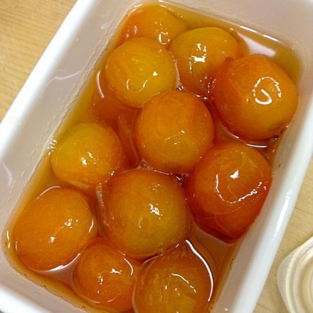 風邪ひきの娘に。 お砂糖は金柑の30%、ハチミツを大さじ2から3くらい。 - 9件のもぐもぐ - 金柑の甘露煮 by maiko35