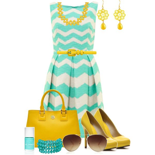 A fashion look from April 2013 featuring Michael Antonio pumps, Tory Burch tote bags and Helene Zubeldia bracelets. Browse and shop related looks.