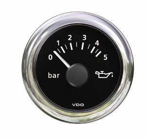 En oferta Reloj VDO View Line Negro e inox Presion Aceite 12 V 10 bar 52 mm