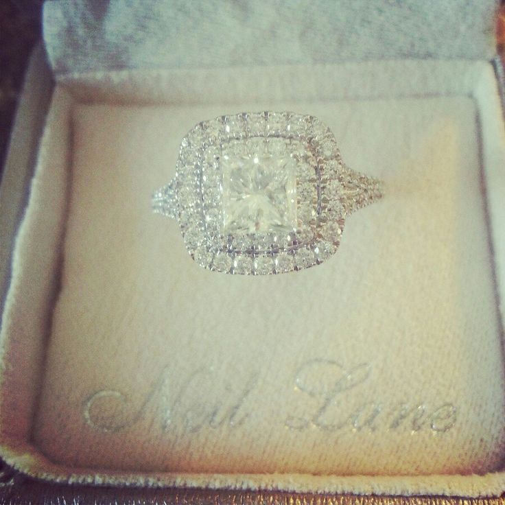 My ring. 2ct Neil Lane Princess Cut with Double Halo.
