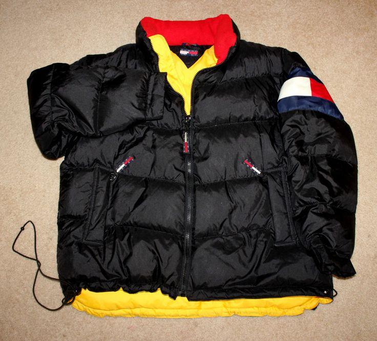 Vintage Tommy Hilfiger Snow Jacket Puffy Puffer Winter Bomber Jacket 6WTZteY7
