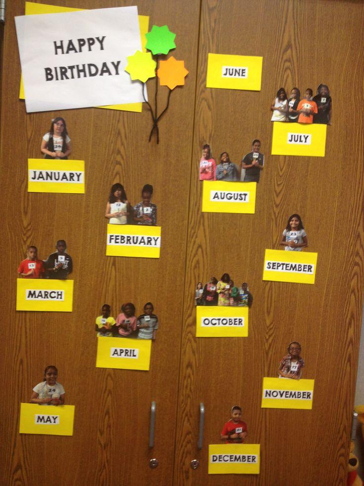 Classroom Decoration Birthday Chart ~ Birthday board my classroom pinterest