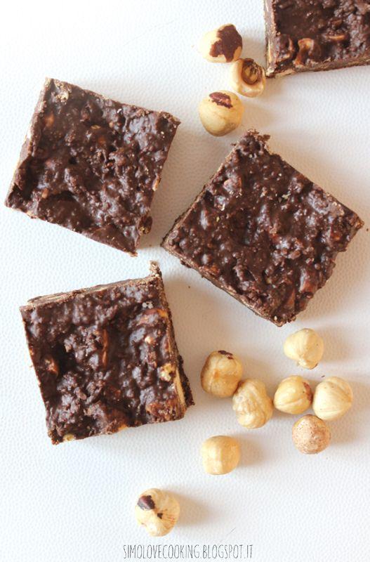 Brownies alle nocciole (senza cottura)