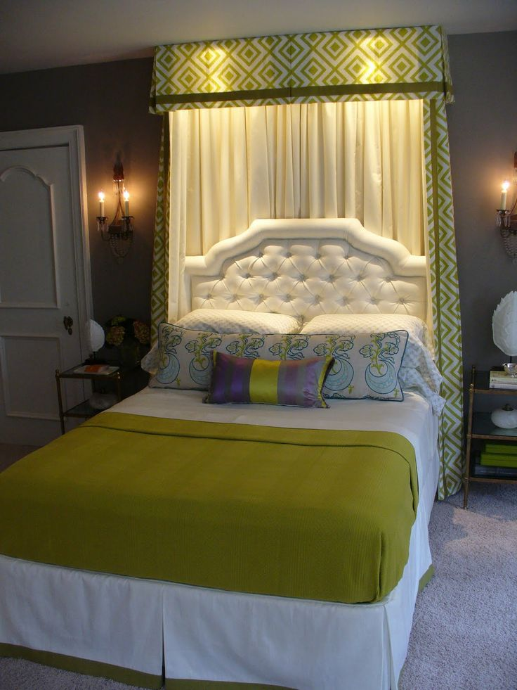 25 best ideas about curtain behind headboard on pinterest for Large headboard ideas