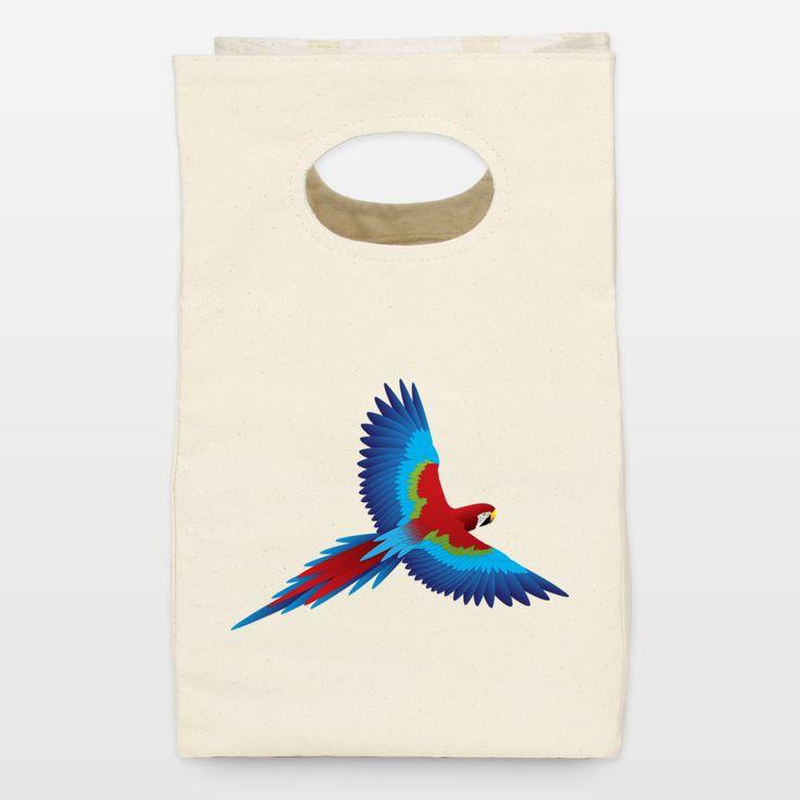 Parrot Lunch Bag http://www.boomboomprints.com/shop/artist/steelgraphics