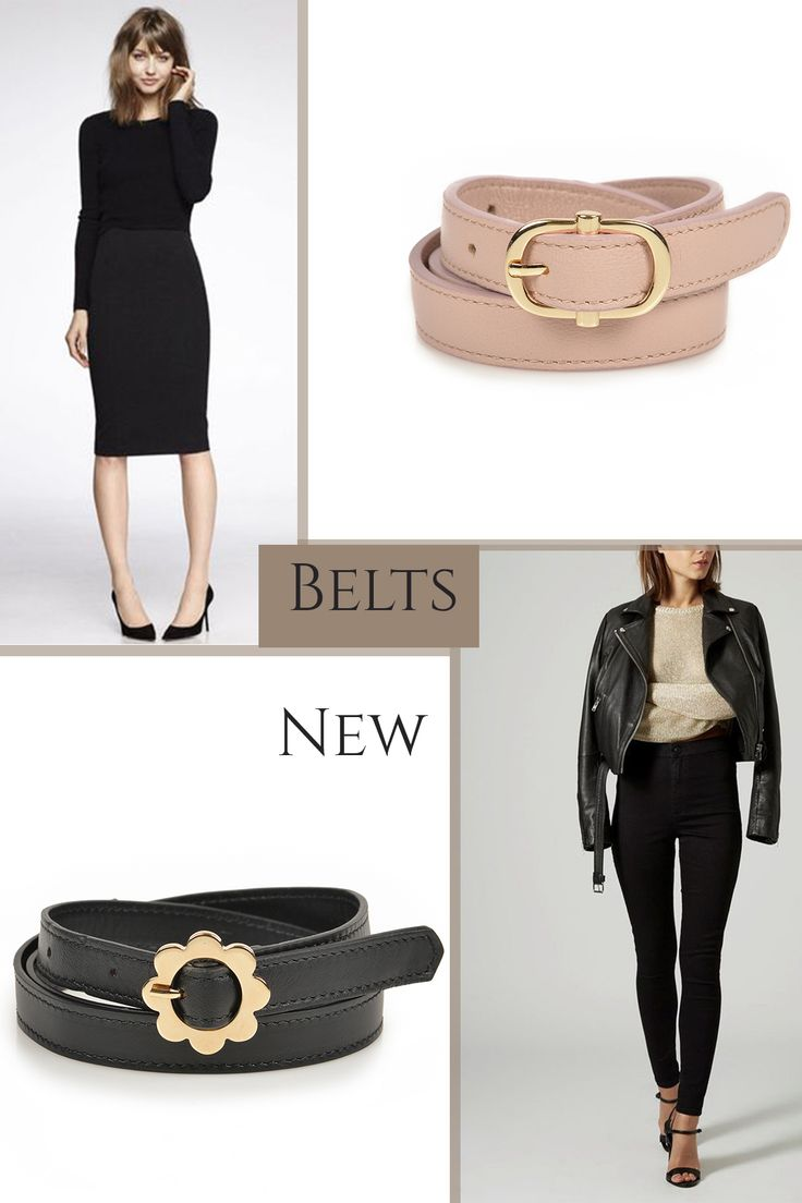 On nude or black shades, the new belts for women are extremely chic and can match your office attires @w