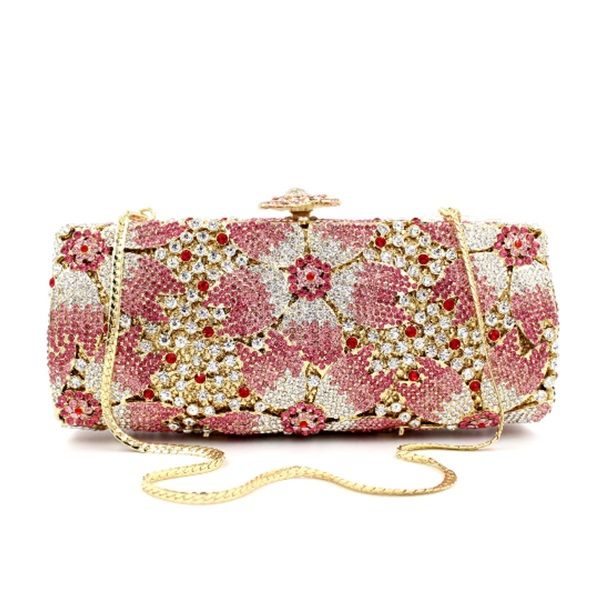 Fashion Nightclub Party Clutches Power Day Sale In 2020 Bridal Clutch Wedding Purse Pink Bag