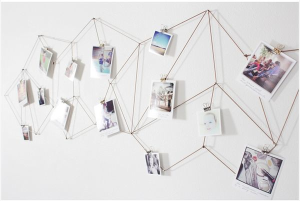 How to: Make a DIY Geometric Photo Display For Your Wall