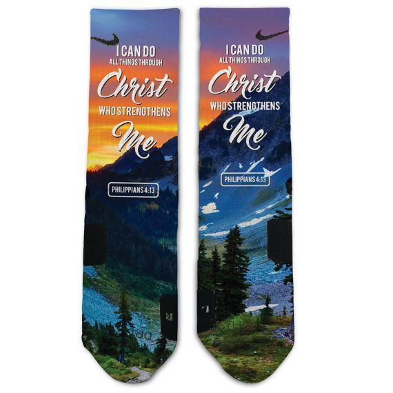 Custom Philippians 4 13 Nike Elite Socks by TouchOfLoveProducts