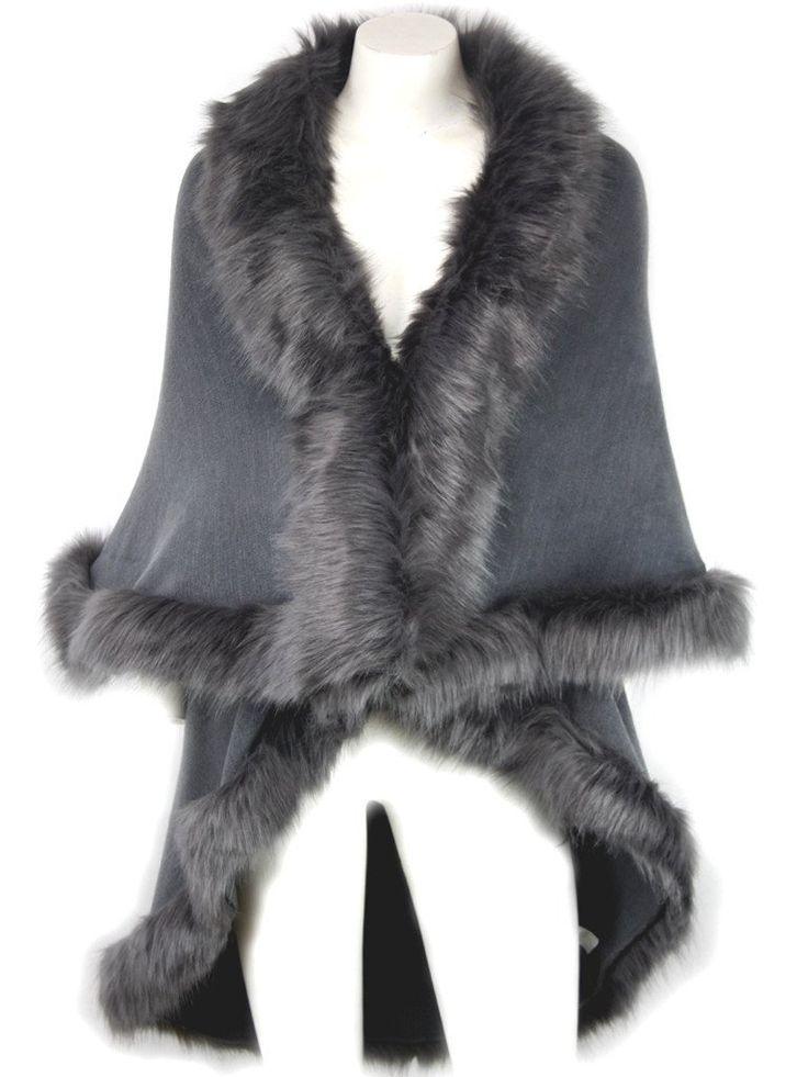 Nina Grey Fur Knit Cardigan
