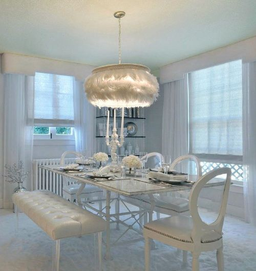 Wonderful white tablescape.