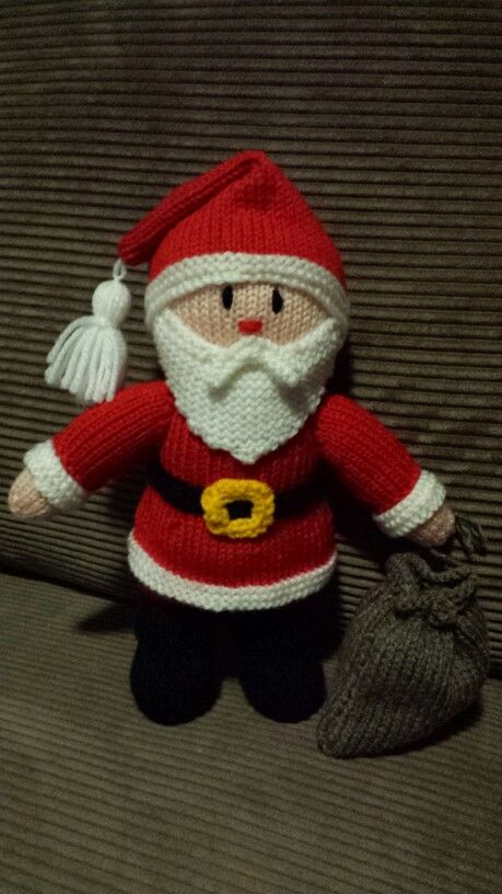 Hand knitted Santa - #JeanGreenhowePattern