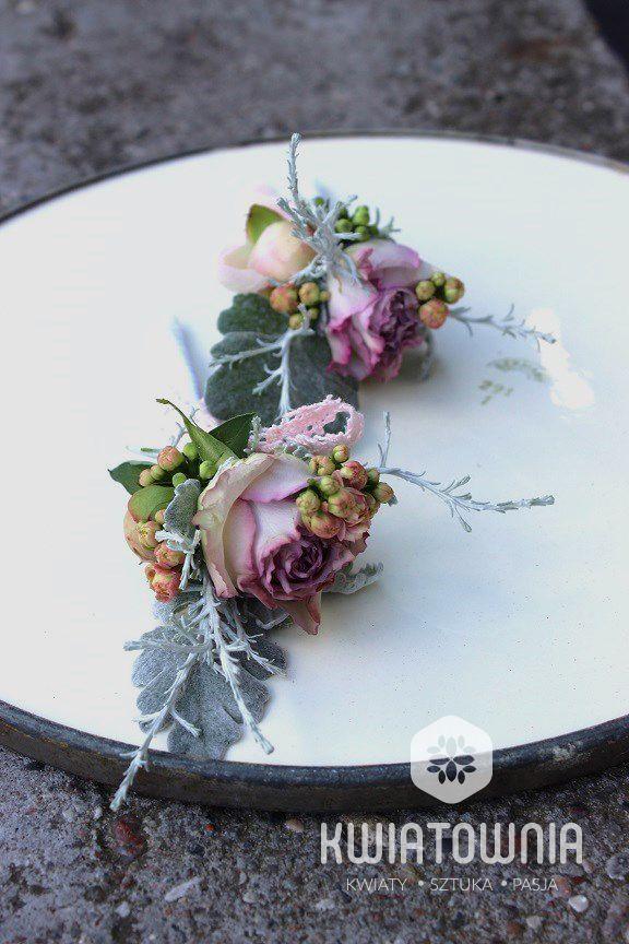 Buttonholes:) #roses #buttonholes #przypinki #przypinka #decor #weedingdecor