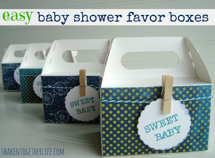 Easy baby shower boxes! Perfect for your next shower or any party!!