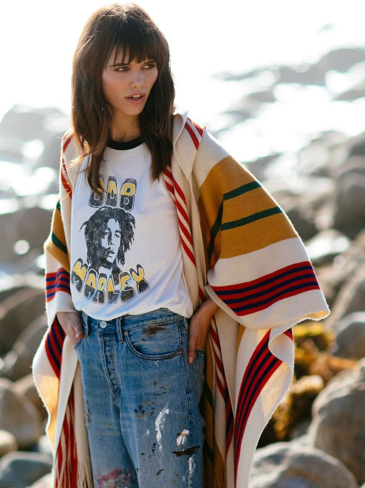 Daydreamer x Free People Bob Marley Baseball Tee at Free People Clothing Boutique