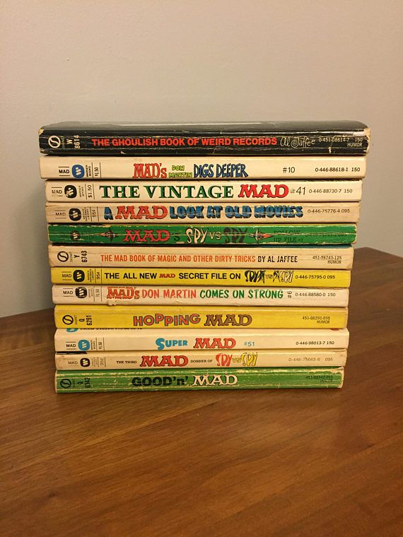Vintage Mad Magazine Books 12 Paper Back Humor Books Spy Book Humor Vintage Books Books