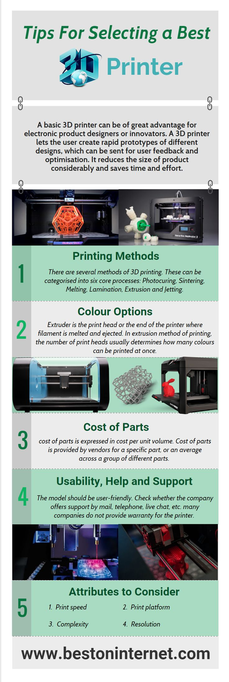 If you are thinking to buy a 3D printer or #3Dprinter kit for #Arduino. So look at here once and then buy. Here are you can see, 5 points for choosing a best 3D printer. http://www.bestoninternet.com/compute/electronics/arduino-mega-3d-printer-kit/