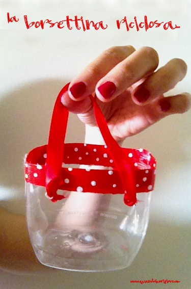 Quandofuoripiove: recycle the plastic soap bottle - washi tape the edges, add ribbon handle