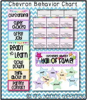Mrs. Heeren's Happenings: Chevron Behavior Chart
