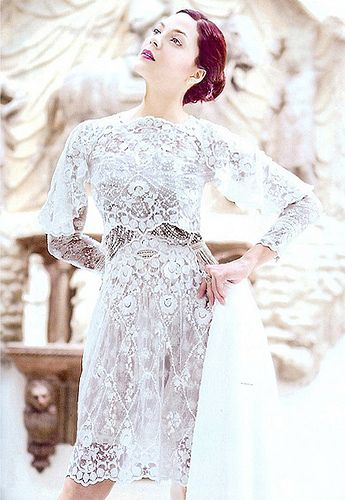 KC Concepcion wearing MOBO lace dress by Lesley Mobo with hand beaded pearl detail.